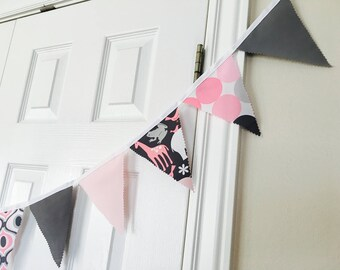Pink Gray Zoology Bunting