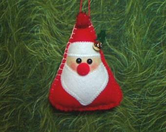 Small Red Santa Claus | Felt Ornament |Christmas Decor | Holidays | Tree Ornament | Christmas Ornament | Handmade Gift | Folk Art | #3