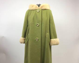 Vintage '50s-'60s Green Coat