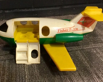 Vintage, 1980, Fisher Price, Little People, Airplane