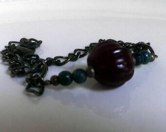 Jasper and Glass Bracelet, green Jasper