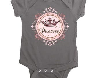 Baby Girl Princess Bodysuit by Mumsy Goose  Newborn Bodysuits to Kids Tees Funny Baby Girl Rompers