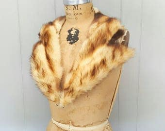 Fitch Fur Collar / 1940's RARE fur for Coat or Sweater