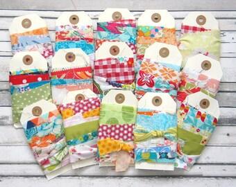 Fabric Ribbon / Handmade Fabric Ribbon Trim / Gift Wrap Ribbon / Fabric Trim / Boho Gypsy Fabric Ribbon Trim / Ribbon Sewing Supplies - 3m