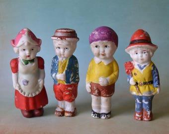 4 Vintage Bisque Frozen Charlotte Dolls Japan