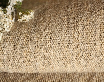 C 432 : antique handloomed 5.68 yards french 리넨  upholstering curtain projects  BROWNISH