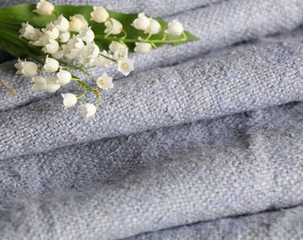 R 656: antique handloomed lin PASTEL BLUE cushy and soft ; 6.55 y 21.26 inches ;리넨, cushion,tumble dry, upholstery fabric