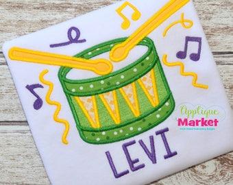 Machine Embroidery Design Embroidery Mardi Gras Drum INSTANT DOWNLOAD