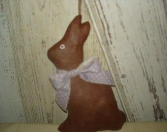 Chocolate Rabbit/Bunny with Fabric Bow, Rabbit, Bunny, Easter, Spring, Ofg, Faap, Hafair, Dub