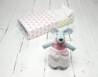 Stocking stuffer stocking kit felt plush felted rat stuff felt animal felt mouse handmade animal tiny miniature hand made doll felt doll