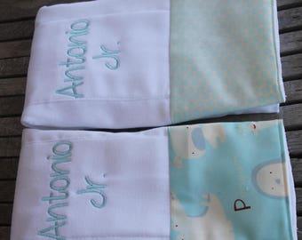 Baby Boy Burp Cloth David Walker Animal Dot Prints Blue Burp Cloth Baby Diaper Burp Cloths Embroidered Diapers Monogram Diaper Burpies