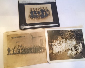 "3 Vintage 8x10"" Group Photos"