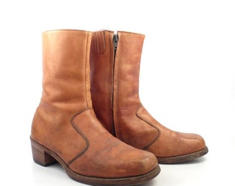 Frye Campus Boots Vintage 1970s Leather Short Ankle men's size 9 1/2