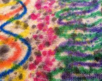 "Flat Feet Sock Blanks, Hand Painted Sock Yarn ""Fields of Space"""