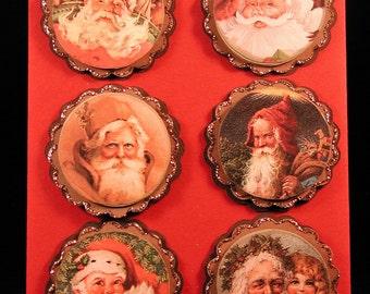 Vintage Santa Paper Embellishments Set #3