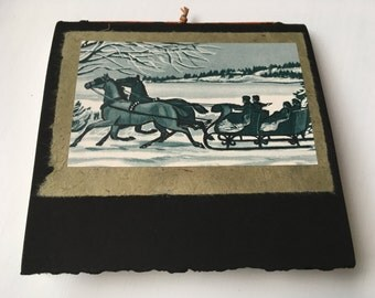 sleigh ride notepad