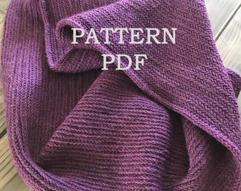 PATTERN PDF - Alsace Herringbone Cowl Pattern for DIY Cowl - Easy Knitting Pattern - Instant Download