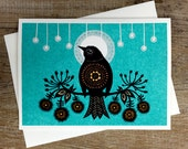 Night Bird - Greeting Card