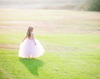 The Juliet Dress in Light Pink - Flower Girl Tutu Dress