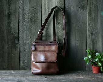 Fossil Leather Purse Crossbody Bag Vintage Bohemian Fashion Brown Vintage From Nowvintage on Etsy