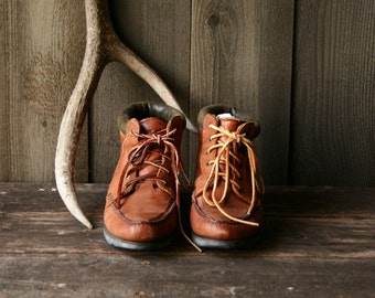 Vintage Leather Hiking Boots Timberlind  Size 7 M Vintage From Nowvintage on Etsy