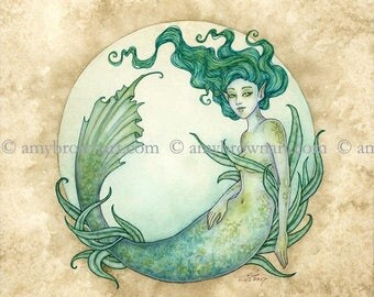 5x7 Water Elemental Mermaid PRINT by Amy Brown