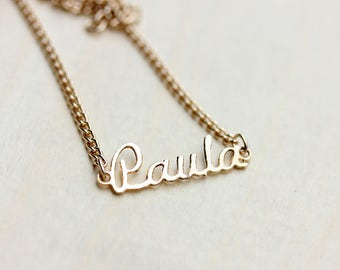 Paula Name Necklace, Paula Necklace, Paula Name, Paula, Name Necklace