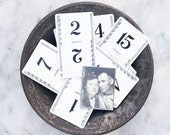 15 Table Numbers / Vintage Wedding Decorations / Flinch Playing Cards