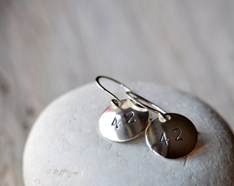 Dangle Earrings 42, Customizable, Sterling silver findings and domes