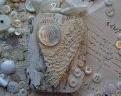 RESETVED4JACKIE - Valentine ornament - primitive shabby heart - NO010