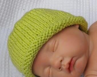 50% OFF SALE Baby Roll Brim Beanie Hat pdf knitting pattern - MADMONKEYKNITS- digital file download