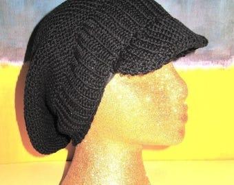 50% OFF SALE Digital pdf file knitting pattern - Garter Stitch Peak Slouch Hat pdf download knitting pattern