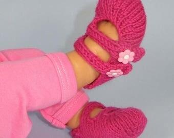50% OFF SALE Digital File pdf download knitting pattern only- Baby 2 Strap Sandals  pdf download knitting pattern