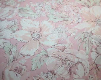 Vintage Peter Pan All Over Pink Florals Hint of Green and Peach