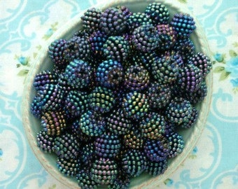 Berry Beads - Blackberry - 15mm - Set of 20