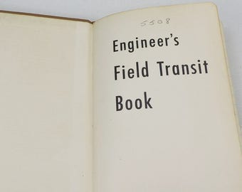 Vintage Book- Engineers Field Transit Book