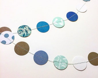 Confetti dots garland-baby blues