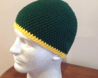 Men's Green and Yellow Beanie/hat/winter