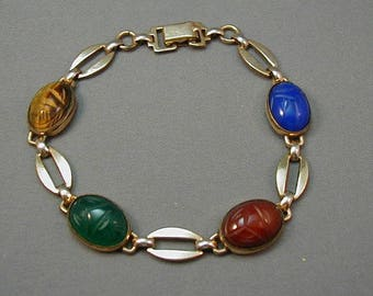 WRE  12K GF Scarab Bracelet