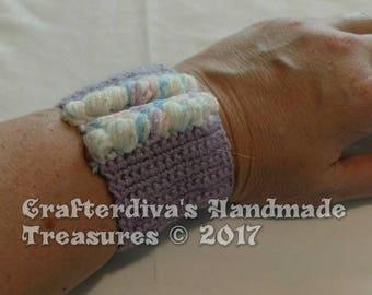 Cuff Bracelet, Handcrocheted Cuff Bracelet, Ladies Accessories, Ladies Jewelry, Handmade Jewelry, Jewelry, Ladies Cuff Bracelet