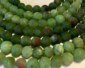 Frosted green quartz 8mm round beads whole 15 inch strand