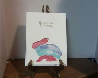 Easter card, easter bunny card,bunny card,greeting card