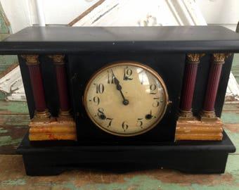 Vintage Mantel Shelf Clock Pat April 28 1896 Made in the USA