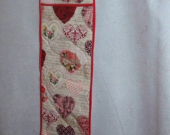 Valentine Print Fabric Double Reinforced Oven Mitt-Hearts Size 6 1/2  X  34 1/2
