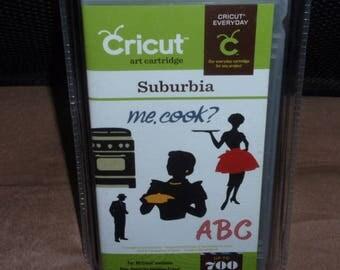 NEW Factory Sealed Cricut Suburbia Me Cook Art Cartridge 700 Images