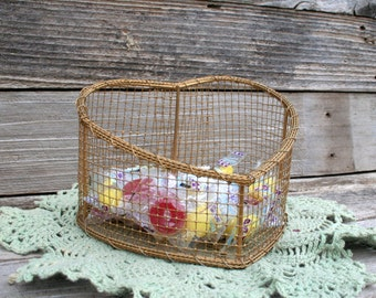 Wire Mesh Decorative Heart Shape Basket