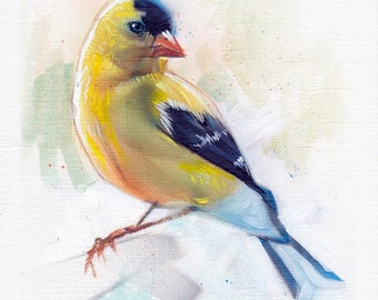 Goldfinch Acrylic Painting Original Art