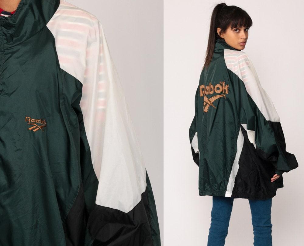 reebok veste des ann es 90 windbreaker jacket veste sport. Black Bedroom Furniture Sets. Home Design Ideas