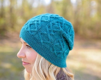 make your own Integrity Slouch (DIGITAL KNITTING PATTERN) hat knitting pattern for adults