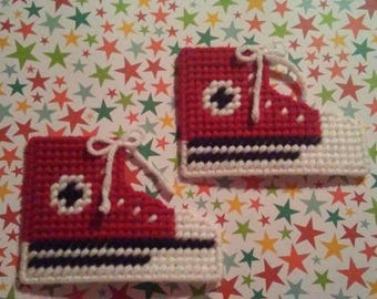 Handmade Red Converse Shoe Magnets Plastic Canvas
